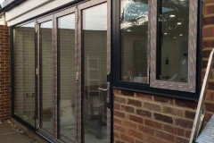Ada Windows Ltd. Full House installation of double glazing windows and doors in Enfield, EN2, North London. Anthracite Grey Aluminium windows and doors. Bifold, patior sliding doors.