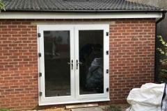 Ada Windows Ltd. Full House installation of double glazing windows and doors in Enfield, EN3, North London. Porch Installation. French Door.