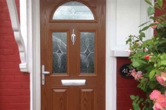 Ada Windows Ltd. Double glazing Composite Door installation in Woodford, E18, East London.  Composite Door and window