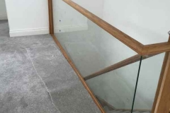 Ada Windows Ltd. Staircase safety glass ballustrade in Potters Bar, EN6, North London