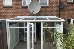 Ada Windows Ltd. Lean-to conservatory roof. Full House installation of double glazing windows and doors in Finchley, N12, North London. . Conservatory Roof and sides. Windows and doors