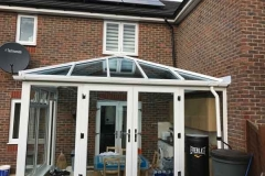 Ada Windows Ltd. Full House installation of double glazing windows and doors in Enfield, EN1, North London. . Conservatory Roof and sides. Windows and doors