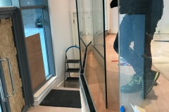 Glass ballustrade installation for Shine London Fitness Centre, SW18, Wandsworth