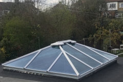 Conservatory roof installation for a garden extension in Palmers Green, N13