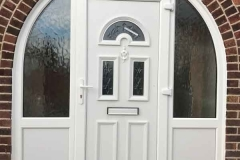 Ada Windows Ltd. PVCu / uPVC Arch Door installation in Enfield, EN1, North London
