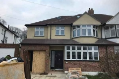 Ada Windows Ltd. Full House installation of double glazing windows and doors in Enfield, EN1, North London. Front Door and windows