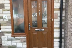 Ada Windows Ltd. Double glazing Composite Door installation in Barnet, EN5, North London.  Composite Door and window