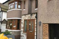 Ada Windows Ltd. Full House installation of golden oak double glazing windows and doors in Totteridge, N20 North London. Door and windows in PVCu.