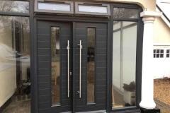 Ada Windows Ltd. Double glazing Composite Door installation in Barnet, EN5, North London.  Composite Door and window